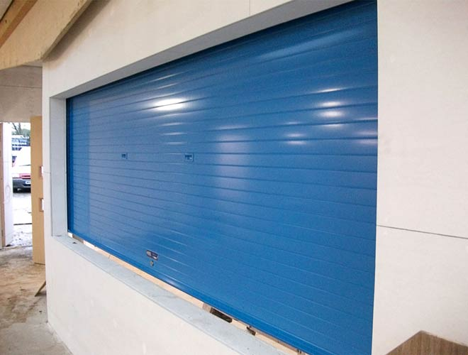 alishield roller shutters in blue