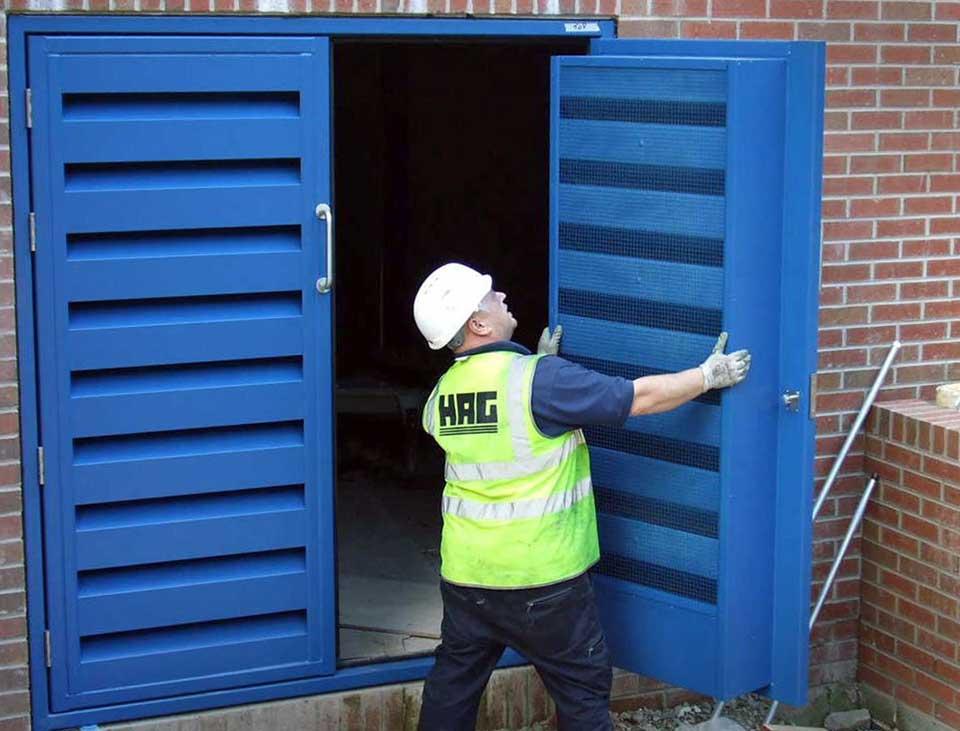 Armourdoor louvred steel door