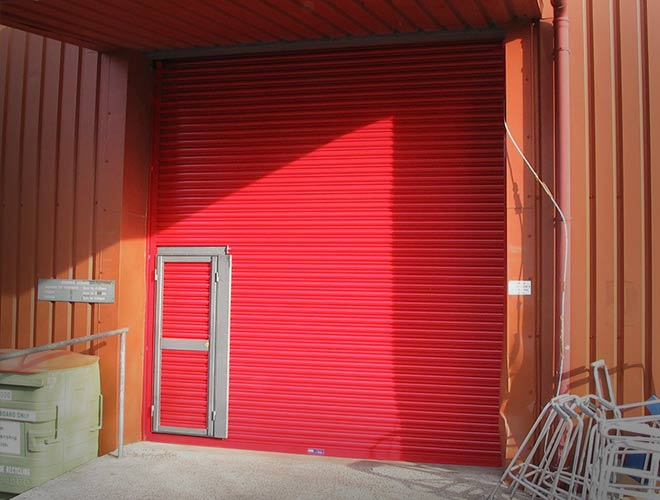 Personnel dour in Armourguard C2 Security Shutter