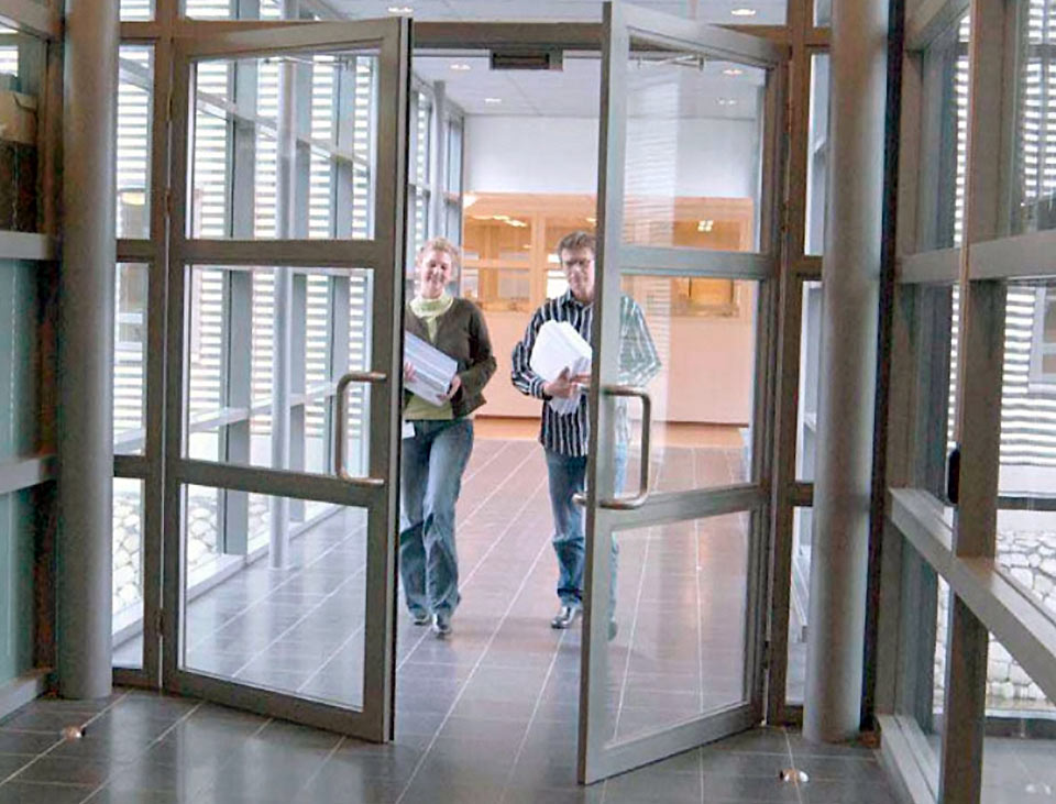 automatic door - swing operated