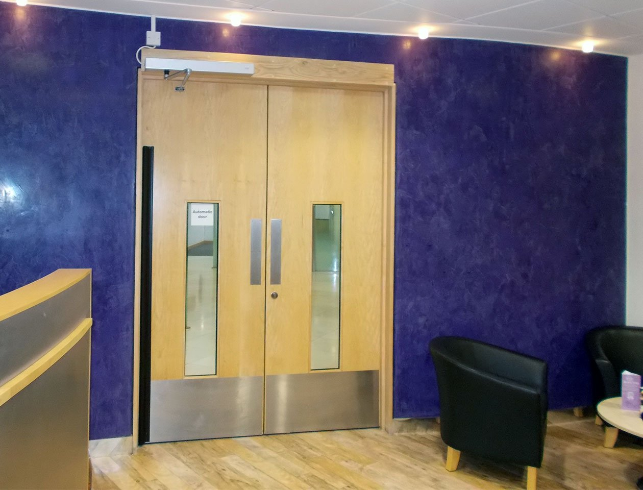 automatic door in a commercial building