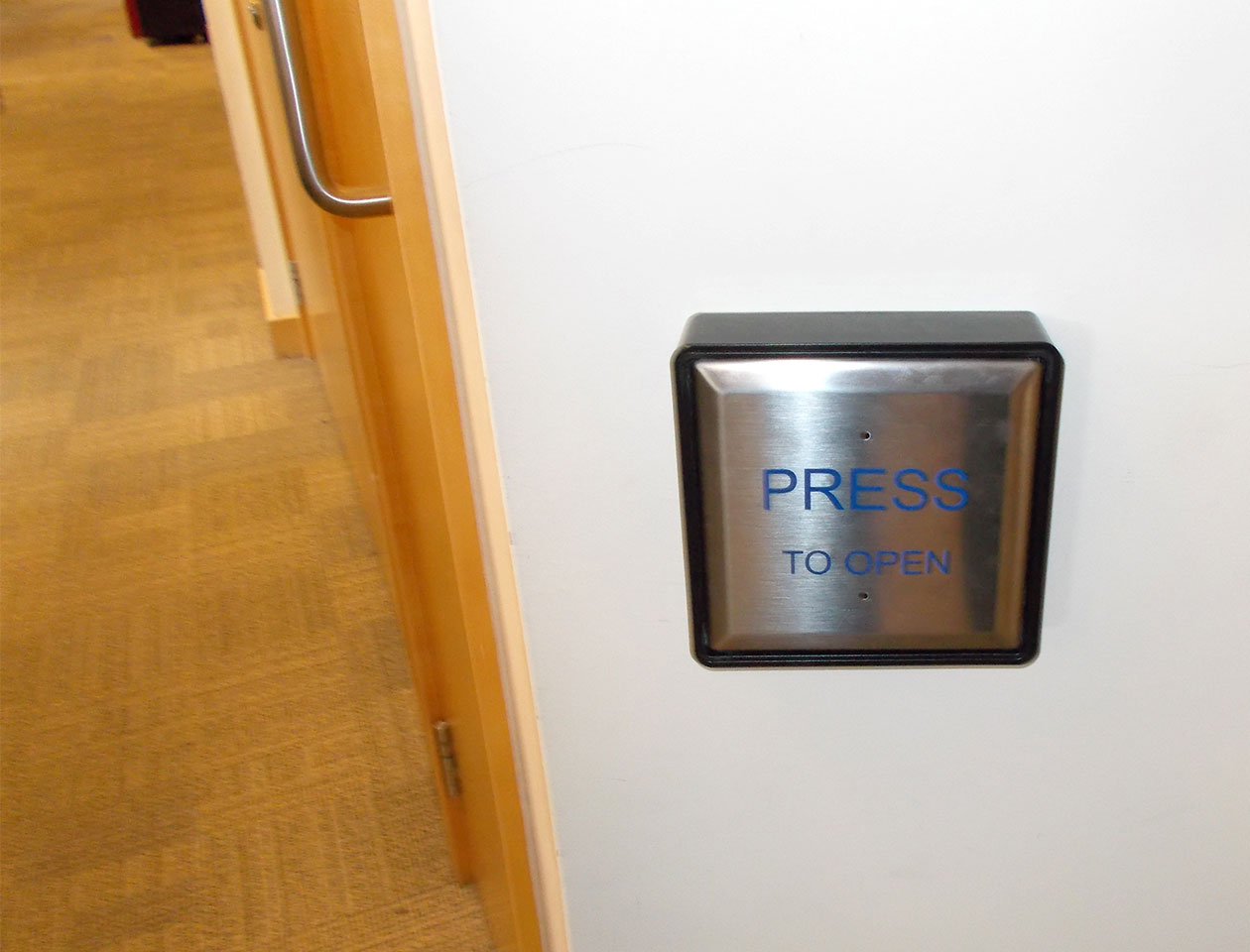 automatic door - operated by button