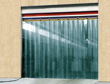 EV curtain - thermal break door