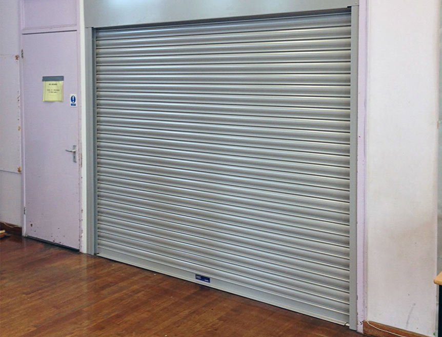 Fire Shutter Door in use in assembly room