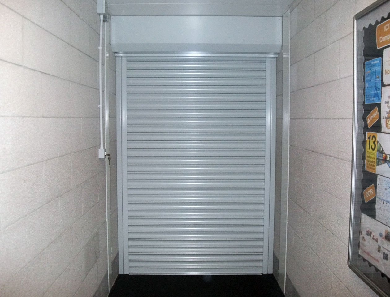 fire guard compact fire shutter door in white
