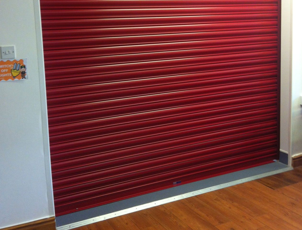 red fire shutter door