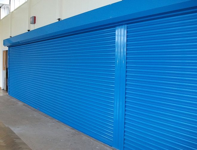 blue fire shutter fully closed
