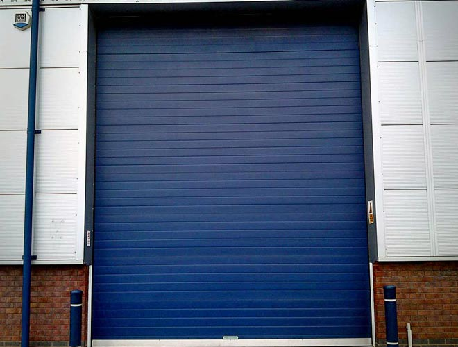 s-door - industrial roller shutter door in dark blue