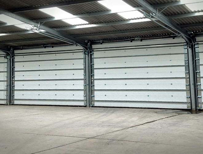 industrial roller shutter door internal view