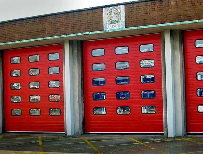 s-door industrial roller shutter in red