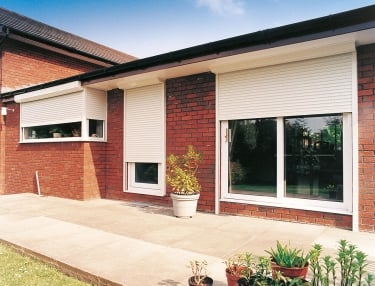 domestic roller shutters used on a home
