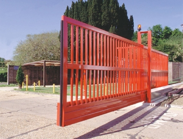 automatic speed gate in red