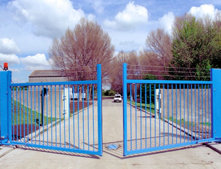 speed gate in blue