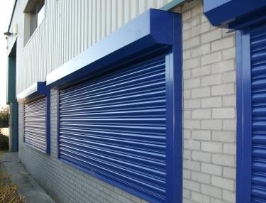three-blue-roller-shutters