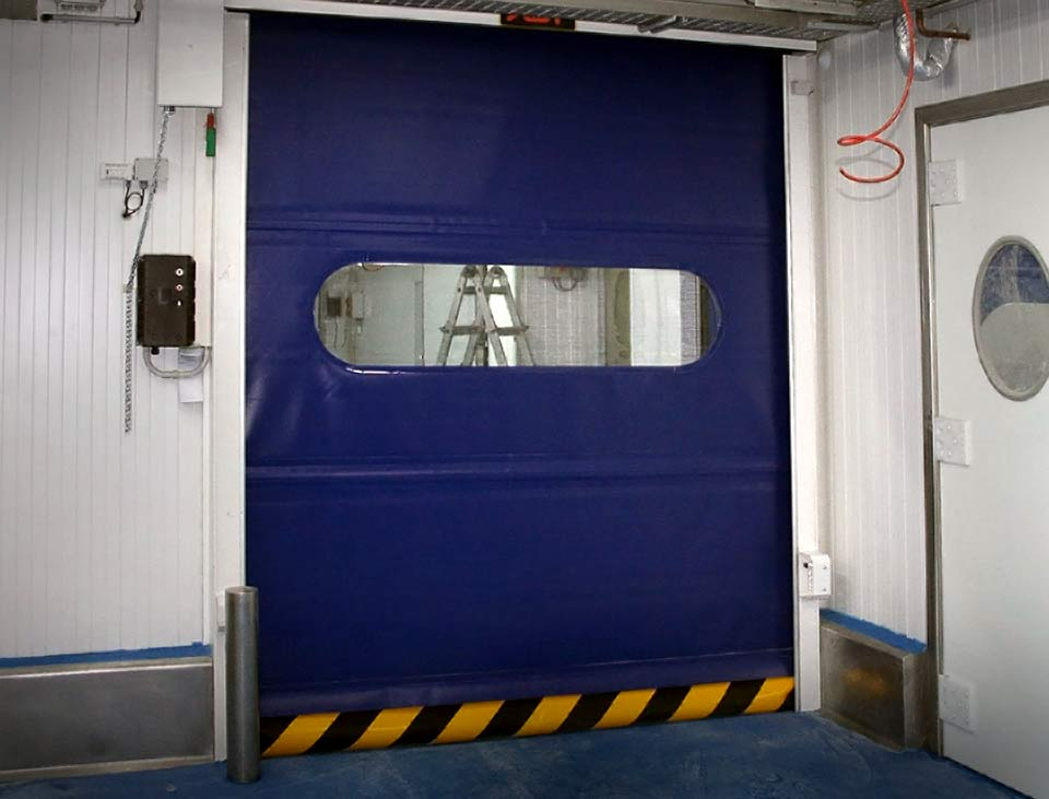 vr thermal break door in blue