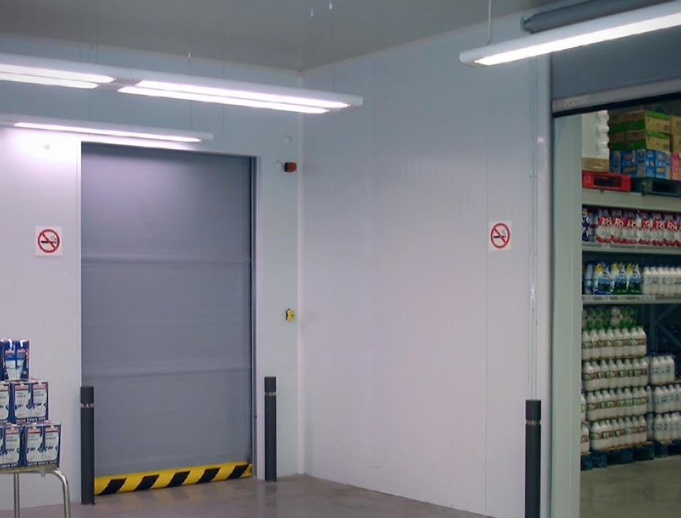 vr high speed door in grey finish